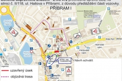Hailova ulice uzavirka